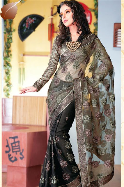 Indian Net Designer Sarees