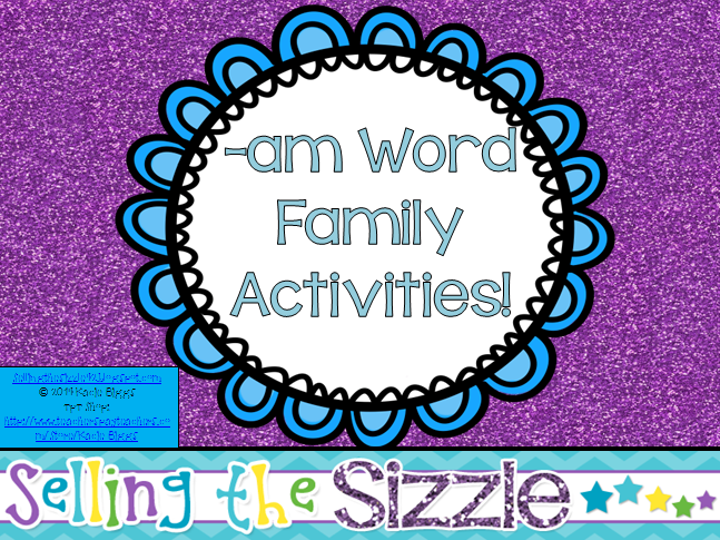 http://www.teacherspayteachers.com/Product/-am-Word-Family-Activities-1189484