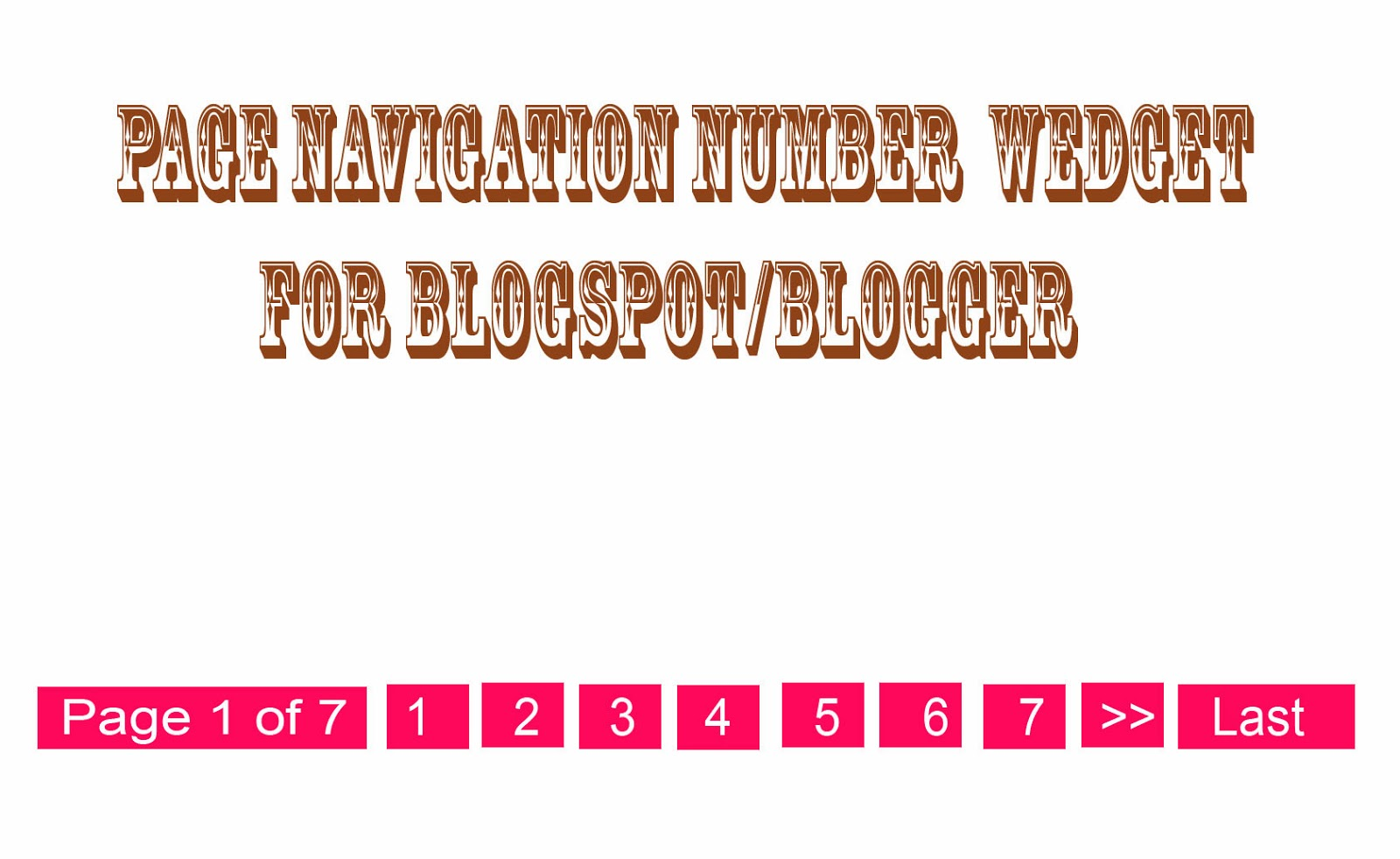 pagenavigationnumberwidget - Add Number Page Navigation Widget in Blogger