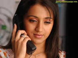 trisha mobile phone