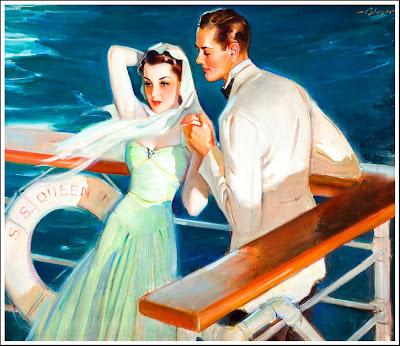 pareja retro, años cuarenta