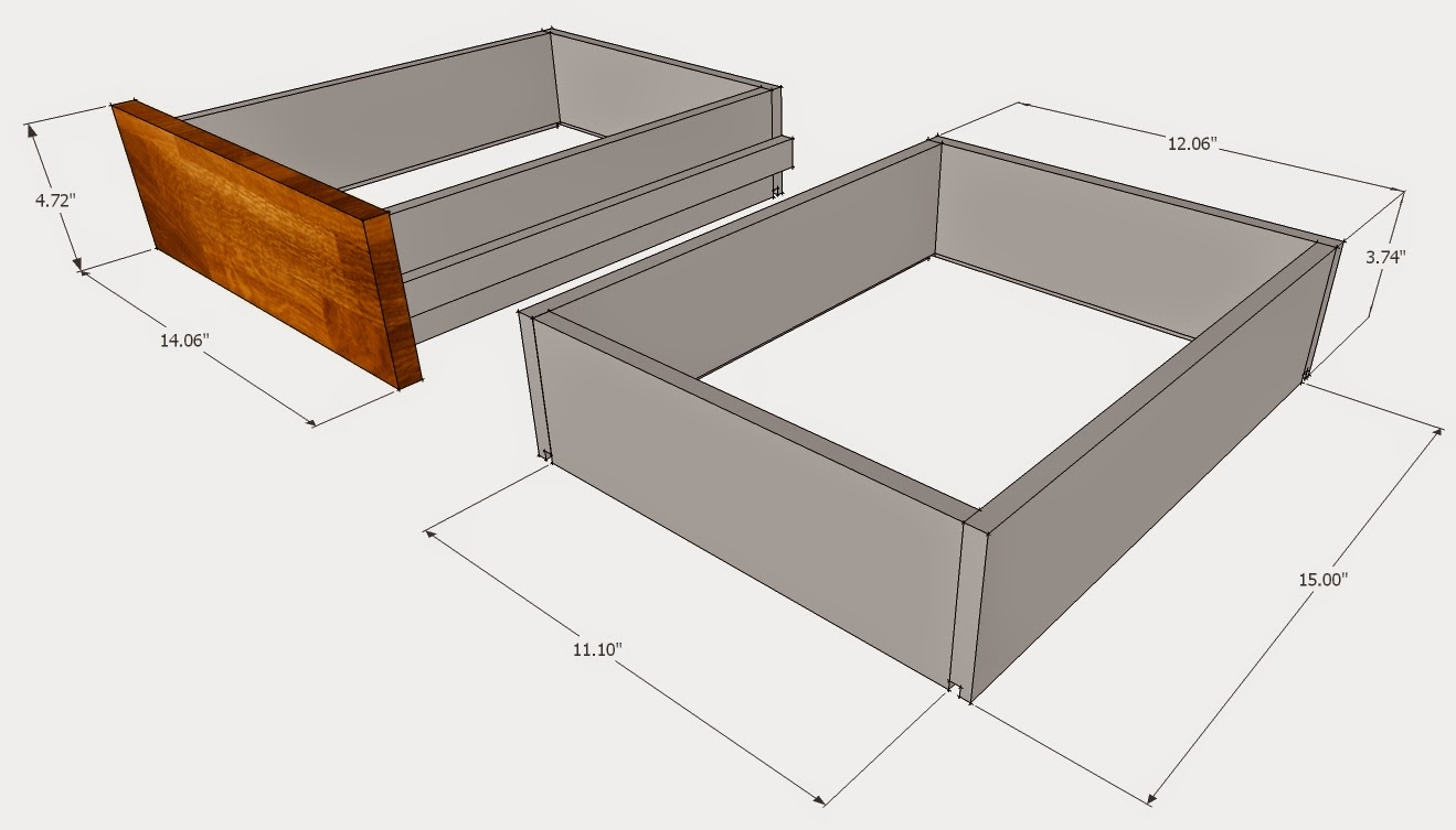 SketchUp TV Unit plans