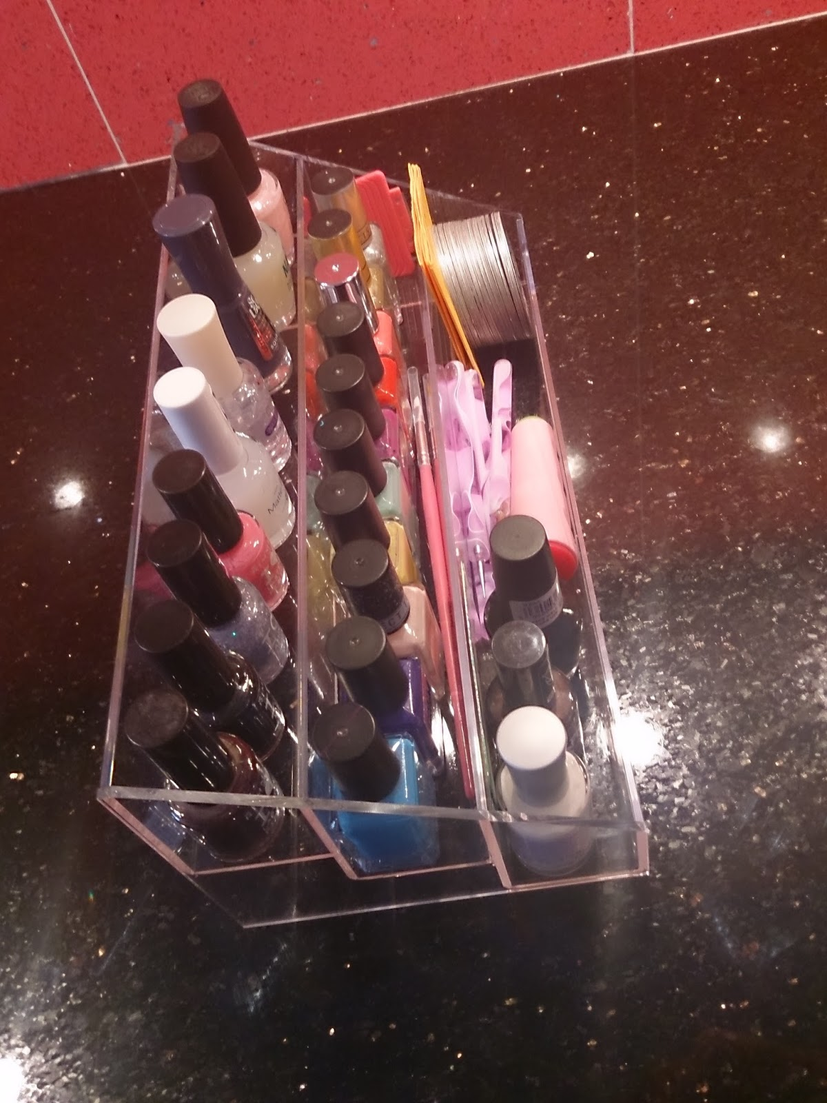 nail polish varnish stand storage acrylic clear muji display