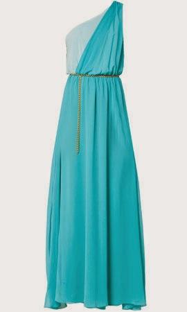 vestido largo Poete para invitadas boda en turquesa