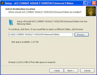 ลงเกมส์ Ace Combat Assault Horizon