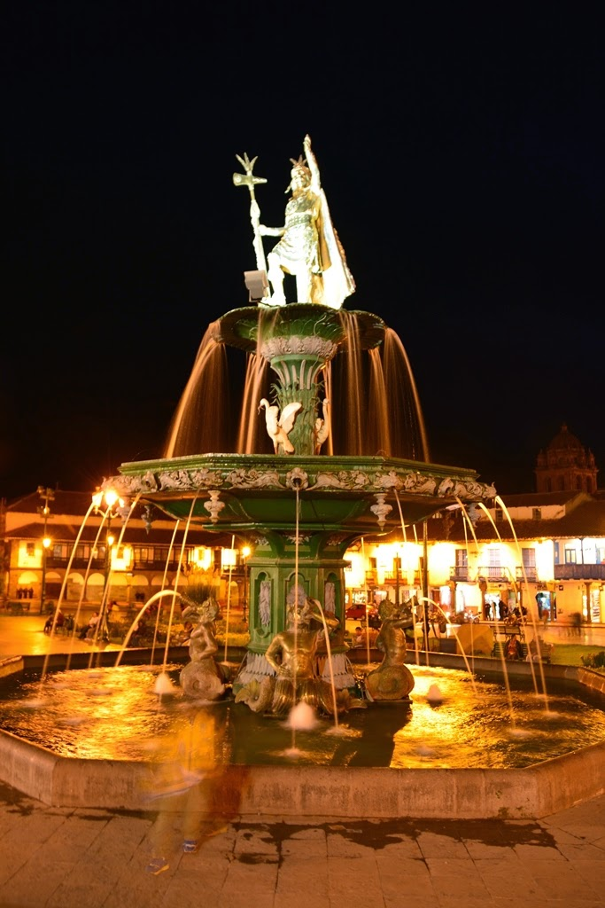 Plaza de Armas Cusco by night