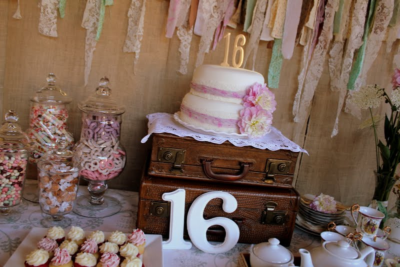 Vintage Pretty Sweet Sixteen Surprise