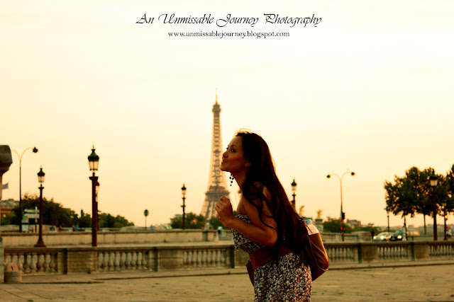Travel Photos Marjolyn Lago experiencing the Sunset in Paris France at the River Siene and Place de la Concorde border=