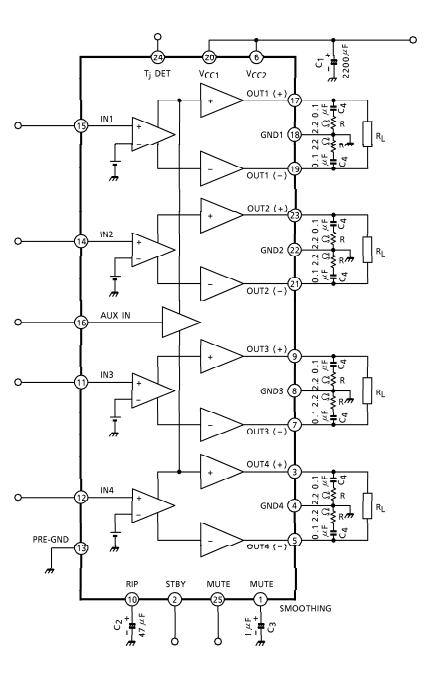 30 watt 4 Channel audio amplifier IC