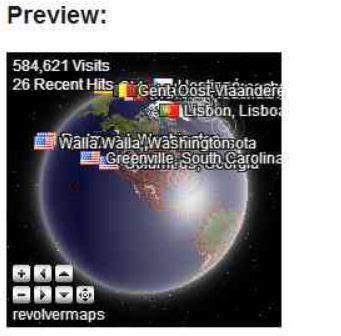 3D интерактивный глобус местоположения посетителей