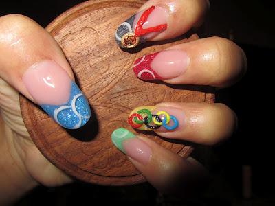 olympics medals nails