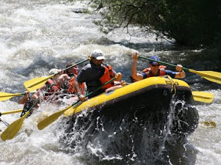 Whitewater rafting: And launching right back out of it!