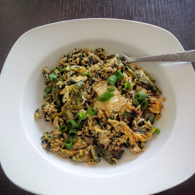 Kimchi Fried Rice:  A fried rice made with leftover rice and kimchi.  A popular recipe in Hawaii and a great comfort food.