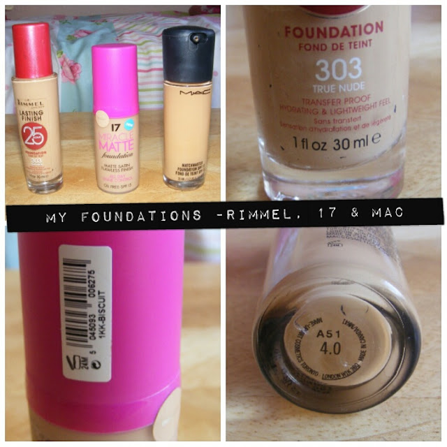 A picture of foundations suitable for oily skin