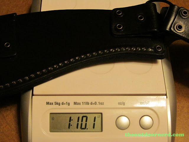 Ka-Bar Kukri Machete - On Digital Scale