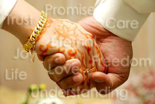 two hands joined in marriage
