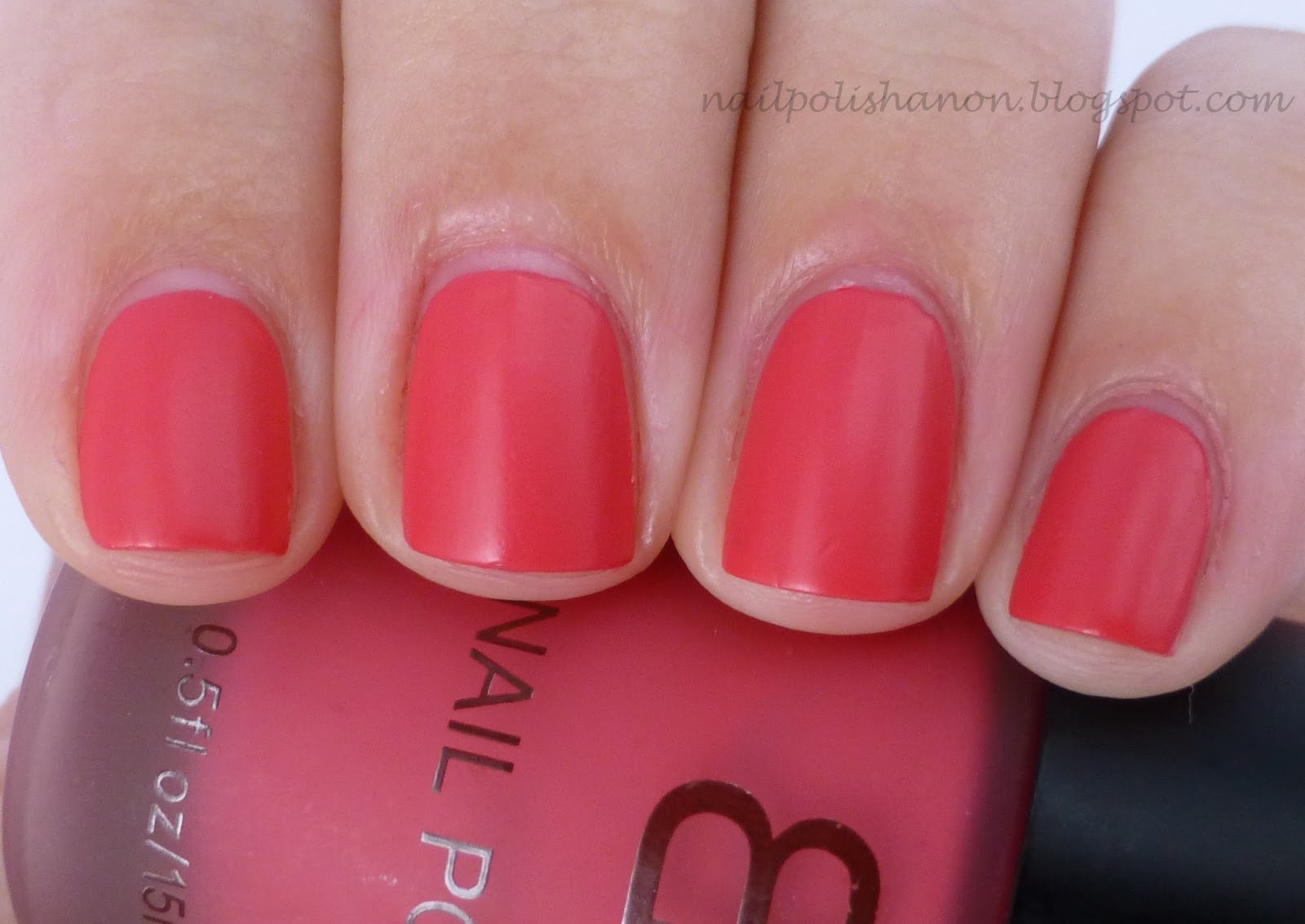 Nail Polish Anon: BK Matte Pink Polish from Born Pretty Store
