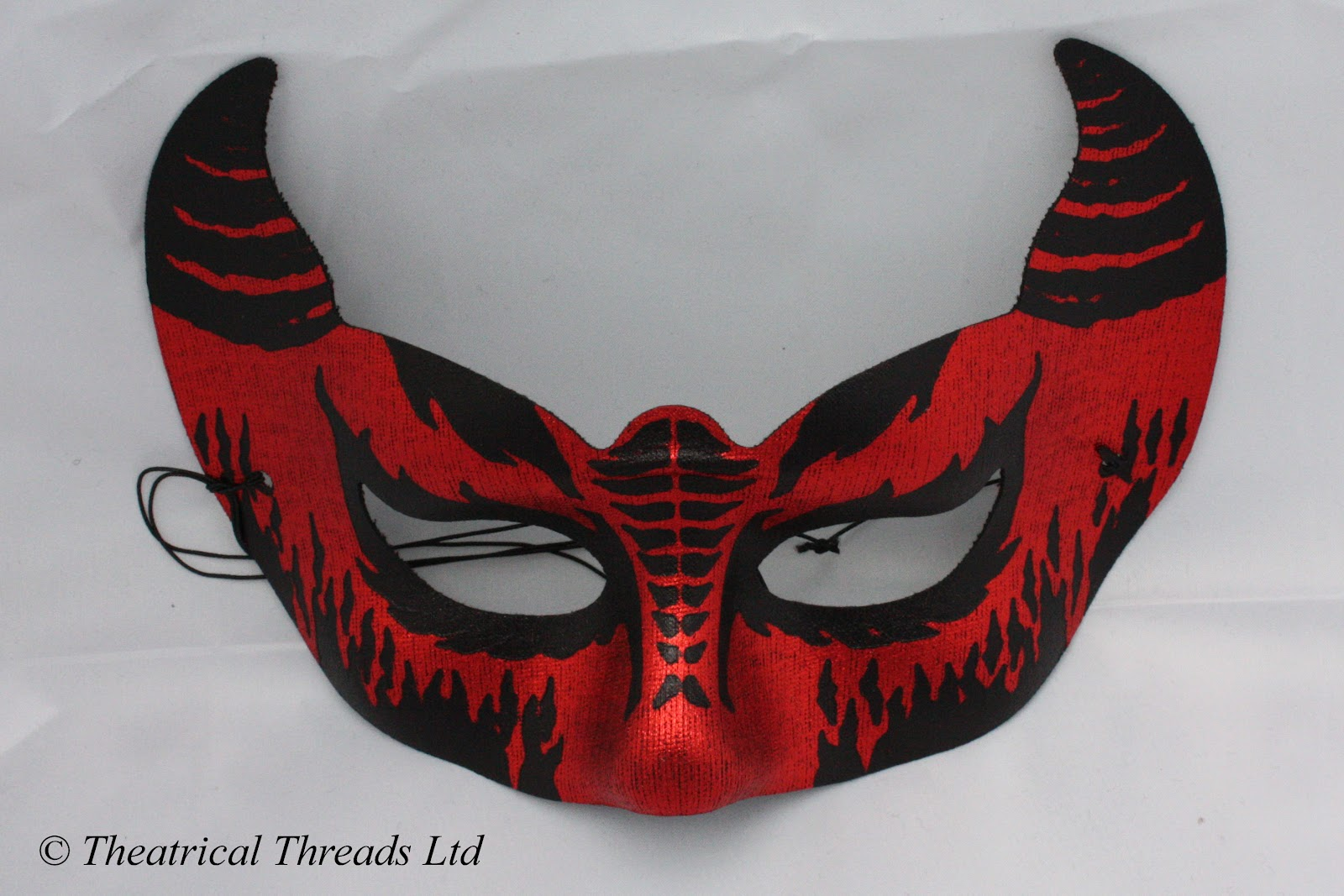 Theatrical Threads: Halloween Devil Masks Red and Black