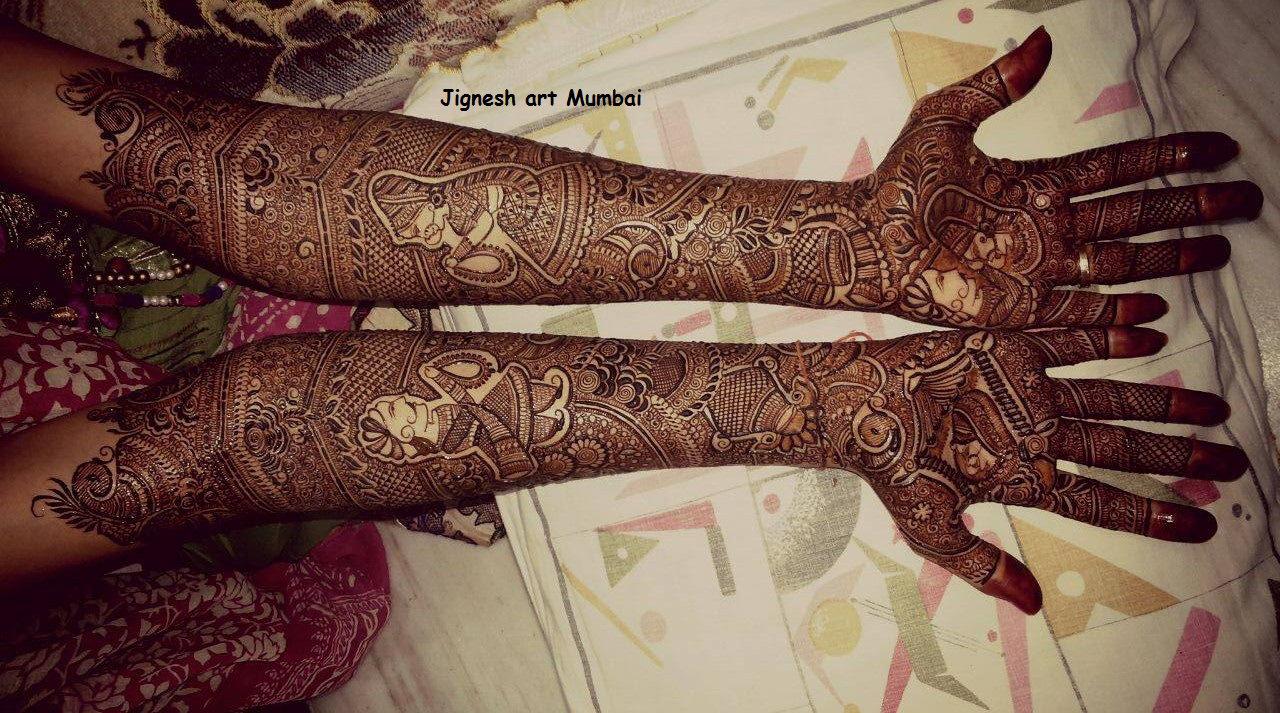 Bridal Mehndi West Midlands : Bridal full hand henna designs makedes