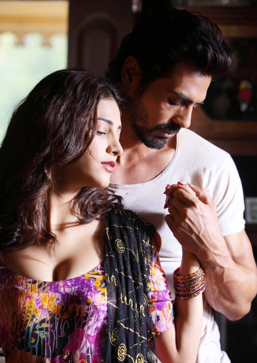 Shruti Hassan in a still from the movie DDay  Hot Photos