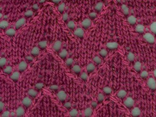 Zig Zag Knitting Stitch Pattern : Knitting Galore: June 2013