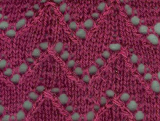 Zig Zag Stitch Knitting Loom : Knitting Galore: Saturday Stitch: Lacy Zig Zag Stitch