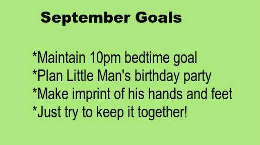 September 2014 goals for One Quarter Mama.ca.