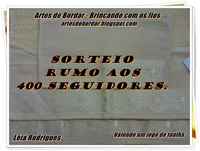 400 seguidores - Artes de Bordar