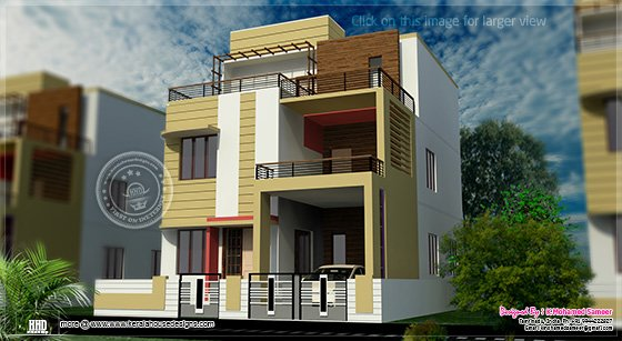 3 story house plan design in 2626 home kerala plans for 24x24 modern house