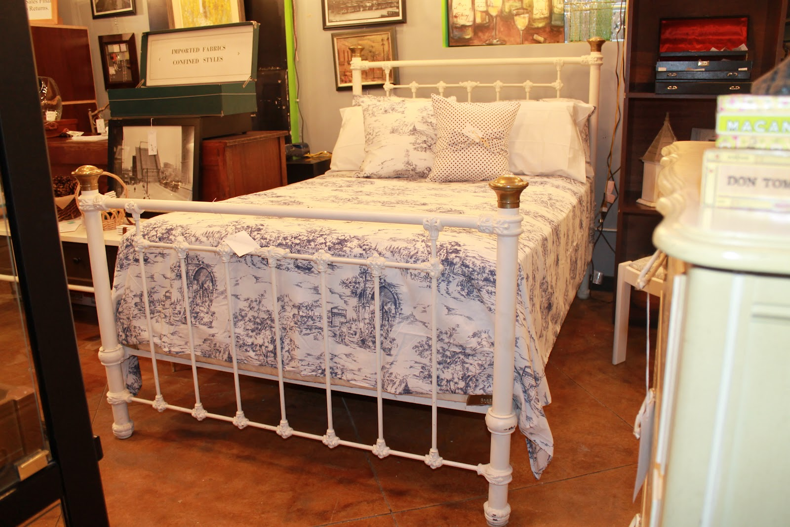 Salvaged by sonya charming 1800 39 s iron bed feature of for 1800 beds
