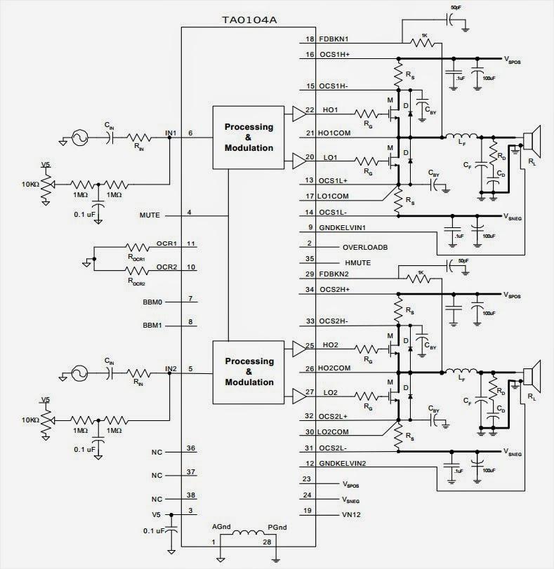 500W Subwoofer Amplifier Circuit AmplifierCircuitscom