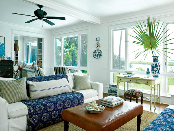 Coastal living room design ideas room design inspirations for Coastal living rooms ideas