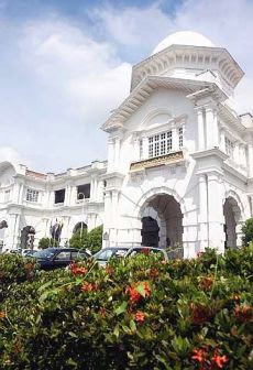 Majestic: The grand exterior of the Ipoh Railway Station.