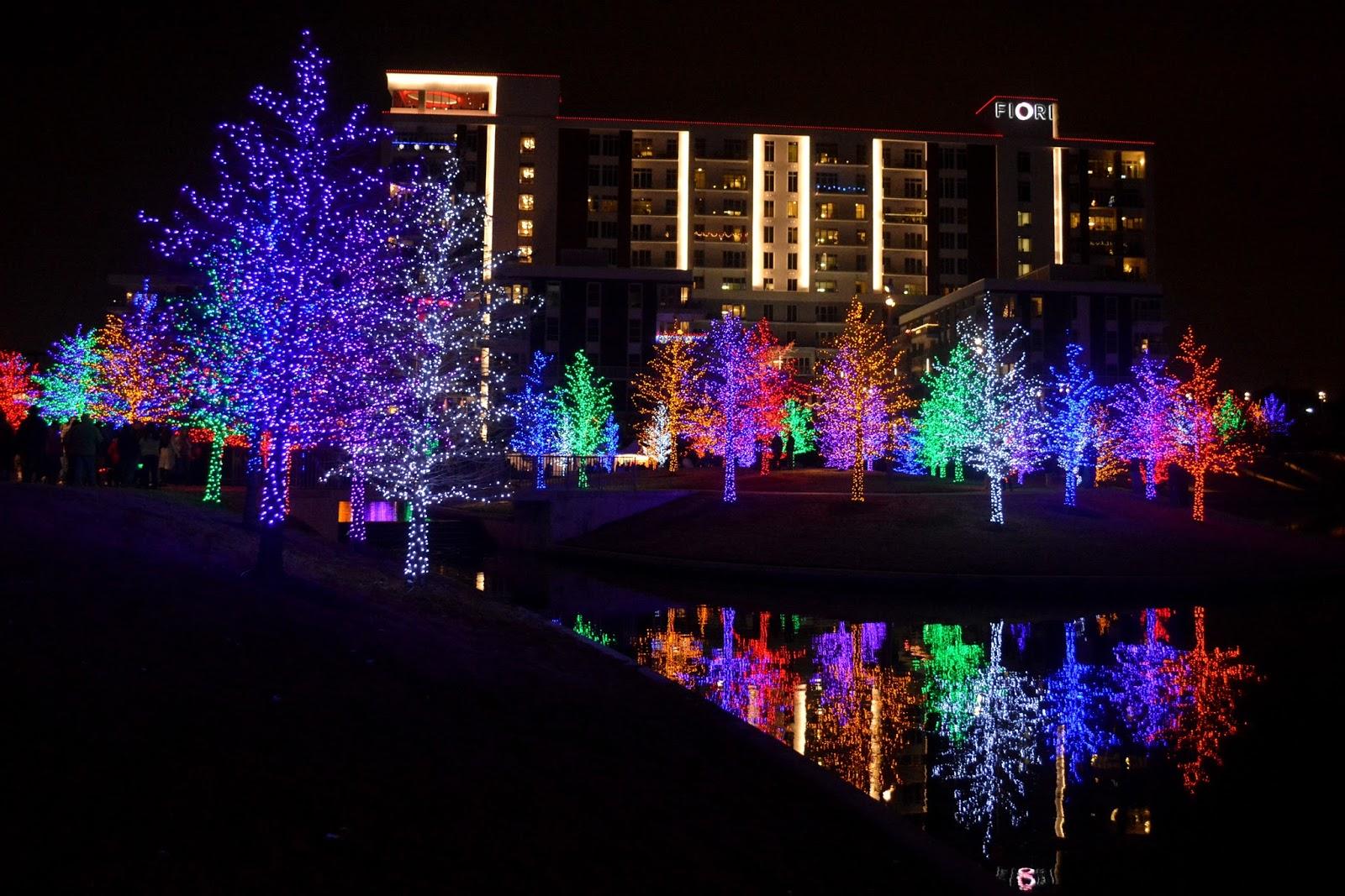 Terrell Daily Photo Vitruvian Park Addison Lights Fiori Texas Christmas