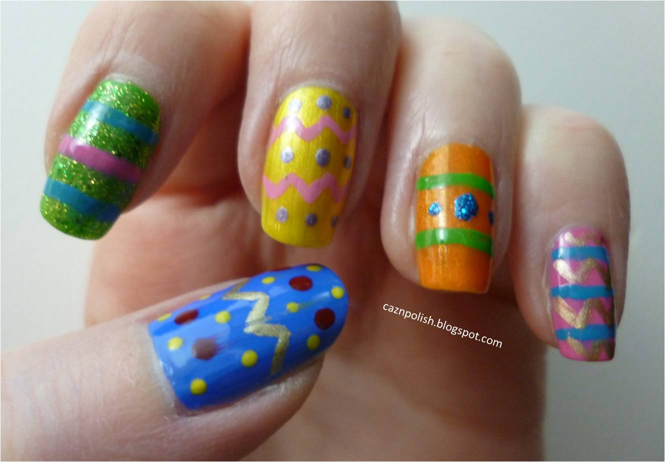 caz 'n' polish | Easter Egg Nail Art