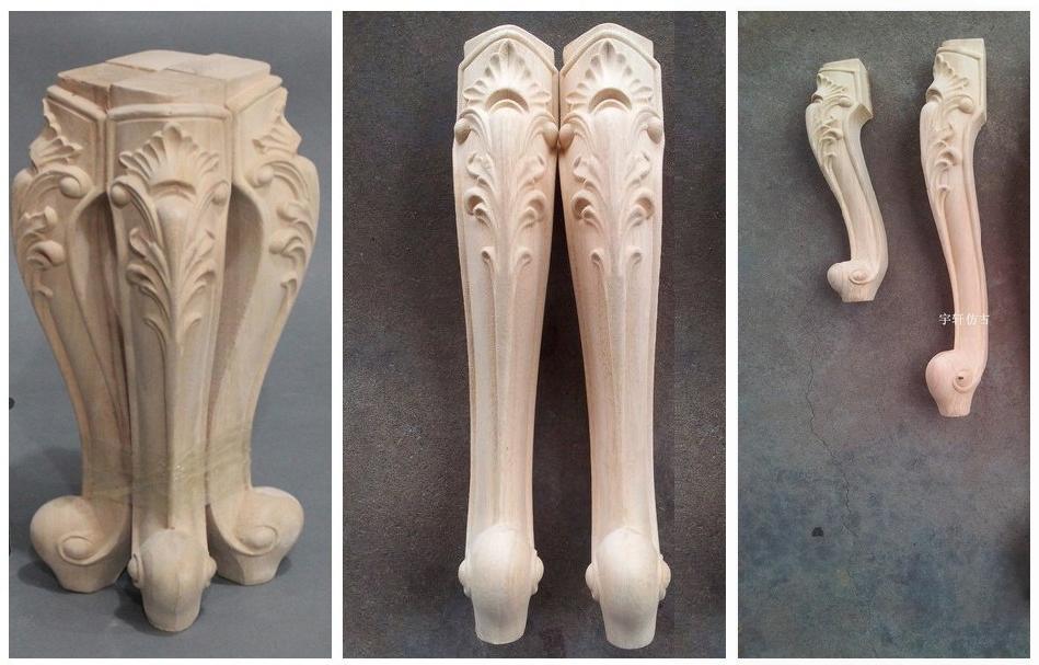 patas de madera talladas