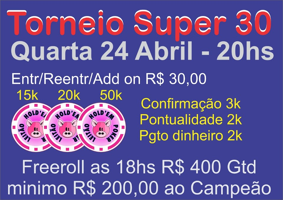 FREEROLL / SUPER30