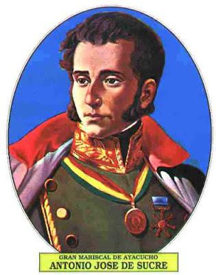 Dibujo de Antonio José de Sucre