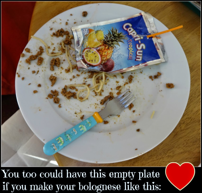 Capri-Sun to wash down dinner and an empty plate