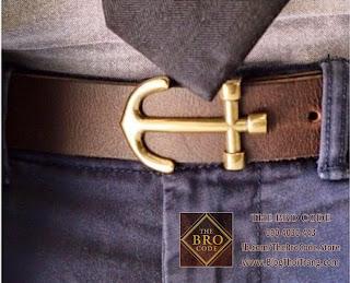 Thắt Lưng Mỏ Neo Dây Nâu Khóa Đồng | ASOS Leather Anchor Belt