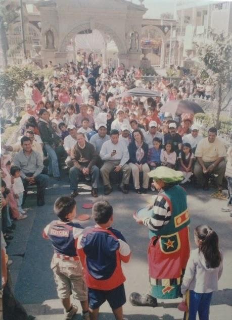 CON LOS NIÑOS DE SAN LORENZO CHIMALHUACAN