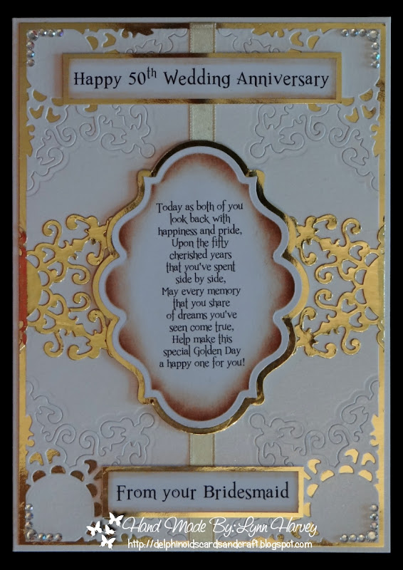 Delphinoids Cards And Craft 50th Wedding Anniversary Card