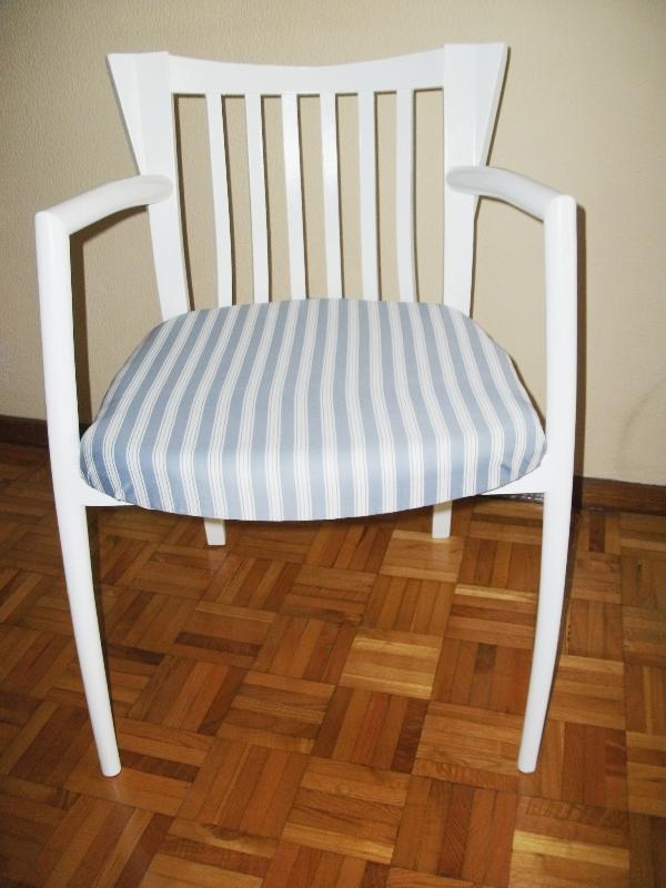 Antes y despu s de la silla de lorena - Esponja para tapizar ...