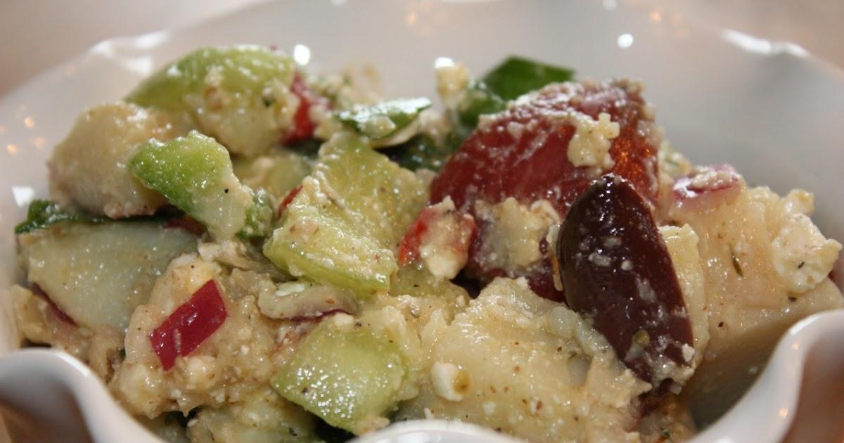 pass the peas, please: greek potato salad with feta ...
