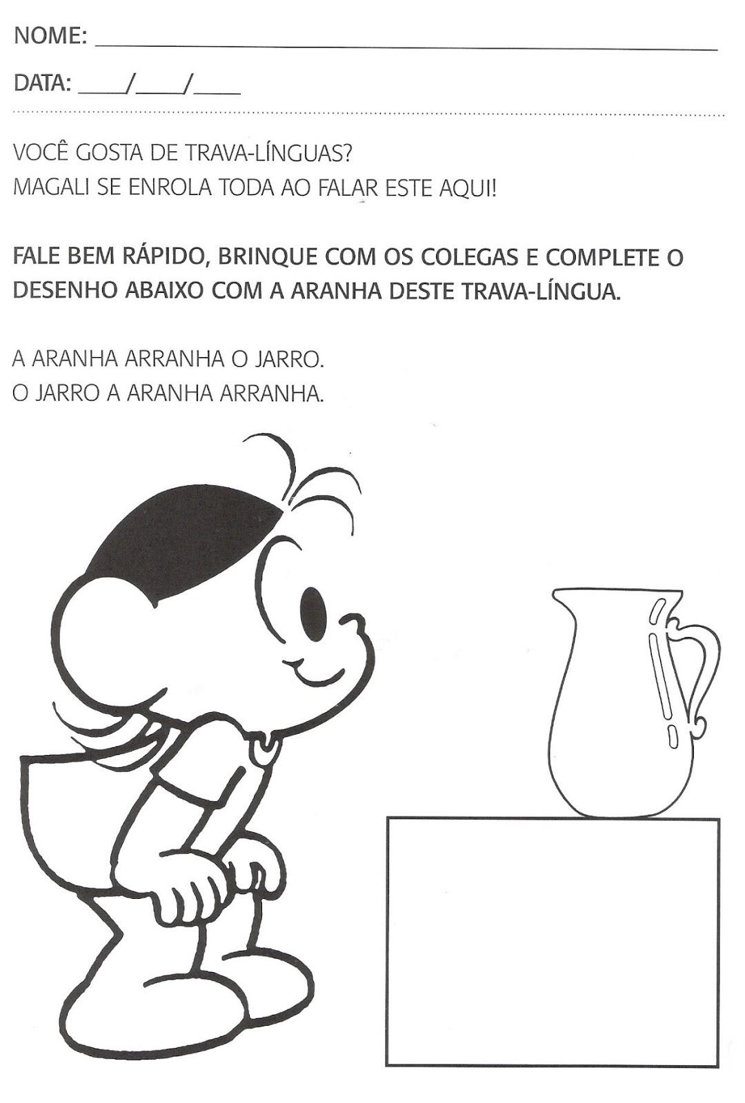 Excepcional Atividades de português para segundo período, educação infantil  UX19