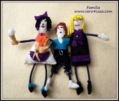 muñecos fieltro