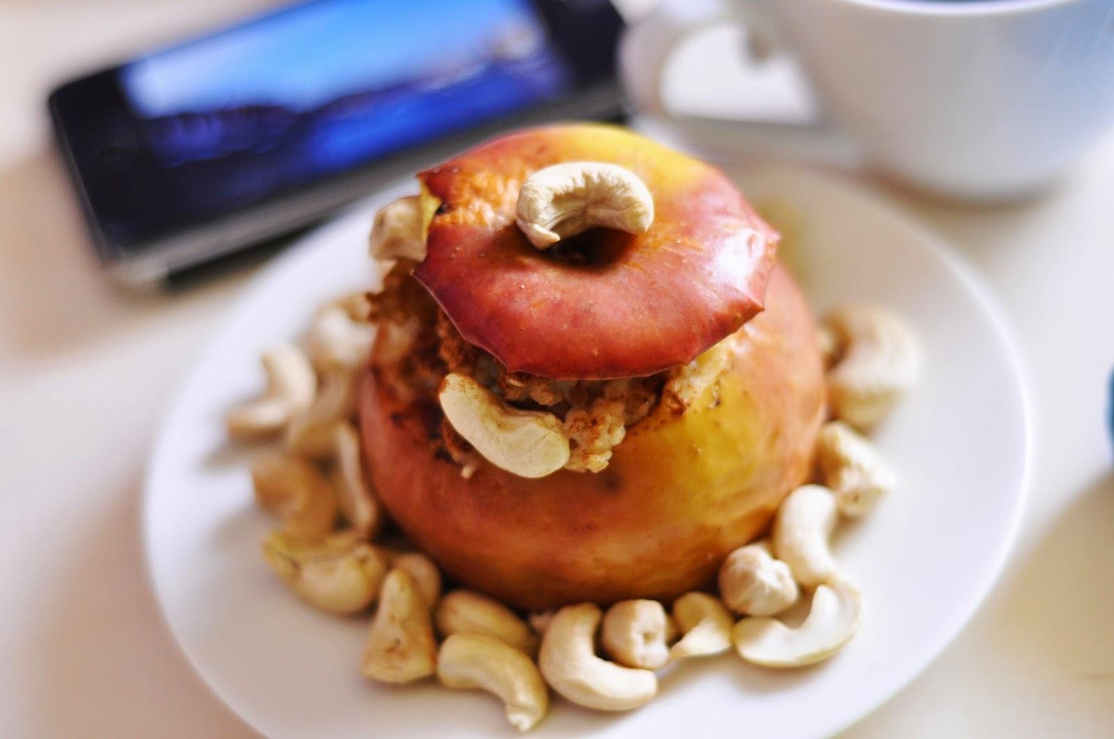 Pieczone jabłka z kaszą owsianą + koncert życzeń!! | dietetyczne, bez laktozy