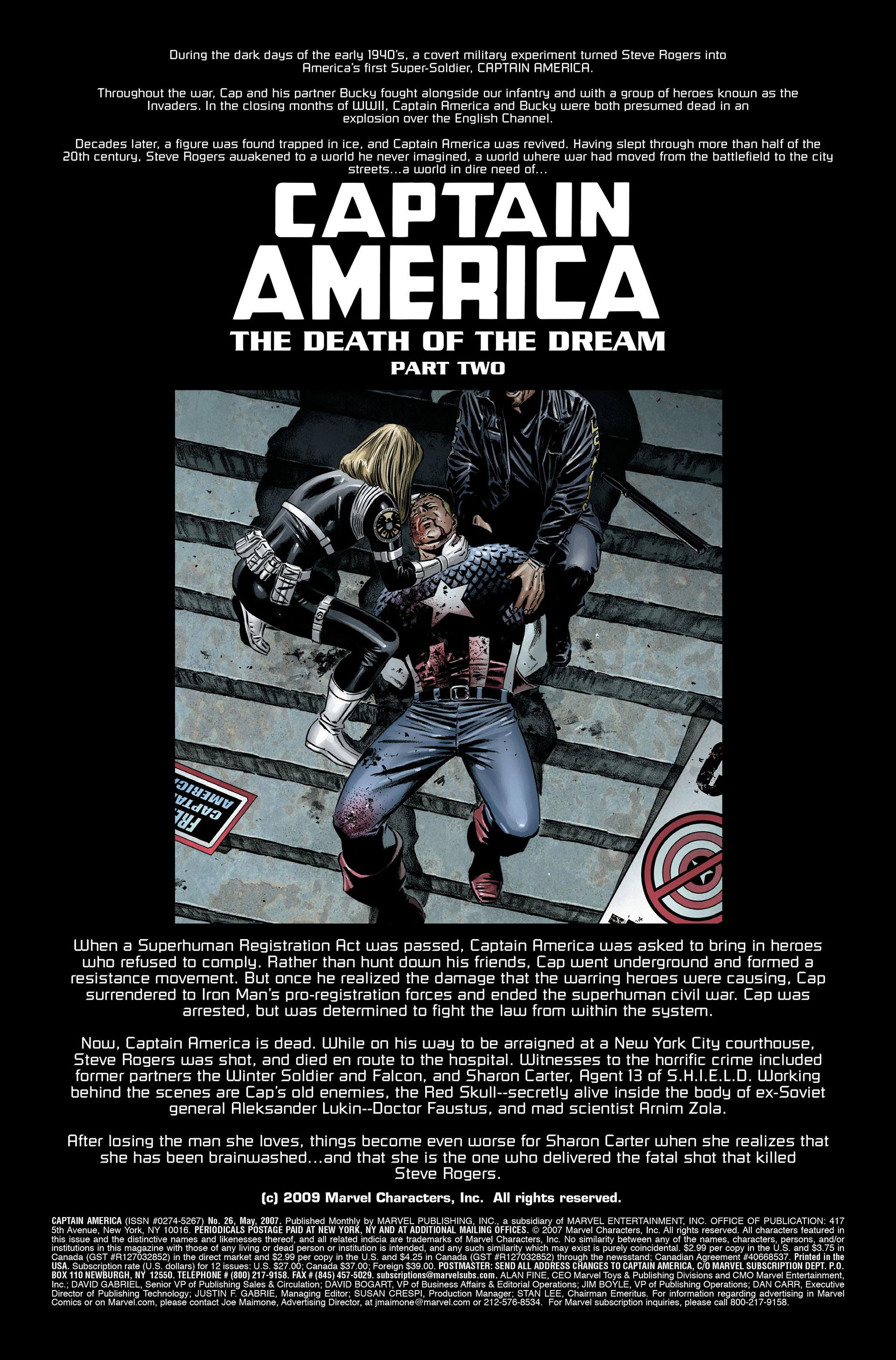 Captain America (2005) Issue #26 #26 - English 2