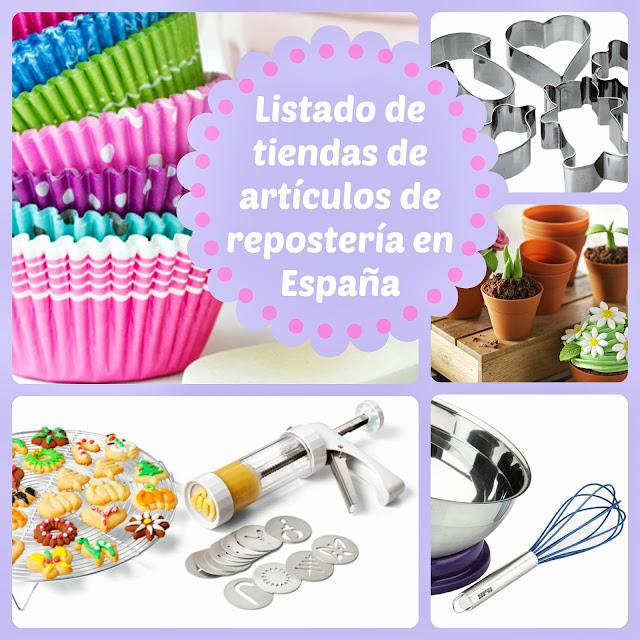 listado tiendas articulos reposteria en España