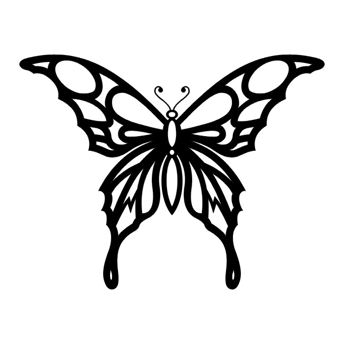 tattoos butterfly tattoo stencils. Black Bedroom Furniture Sets. Home Design Ideas